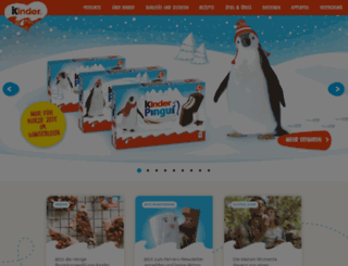 christmas.kinder.com.de screenshot
