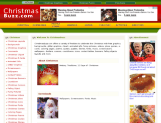 christmasbuzz.com screenshot
