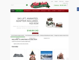 christmasvillages.ca screenshot