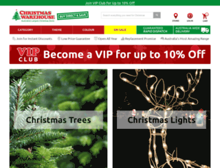 christmaswarehouse.com.au screenshot