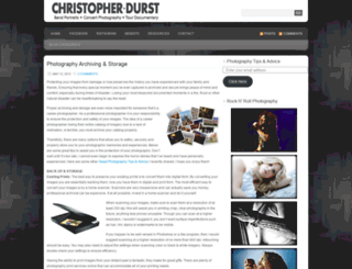 christopherdurst.wordpress.com screenshot