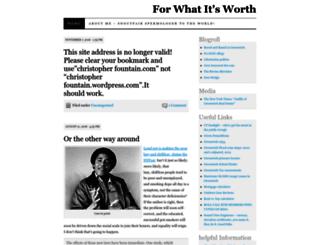 christopherfountain.wordpress.com screenshot