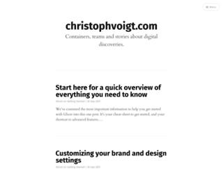 christophvoigt.com screenshot