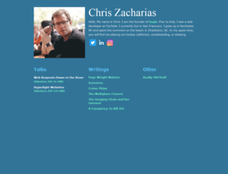 chriszacharias.com screenshot