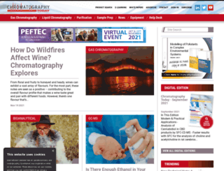 chromatographytoday.com screenshot