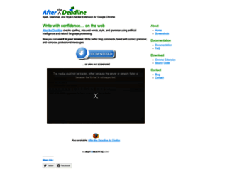 chrome.afterthedeadline.com screenshot