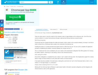 chromecast-app.joydownload.com screenshot