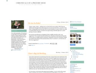 chronicalsofapreemiemom.blogspot.com screenshot