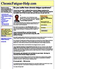 chronicfatigue-help.com screenshot