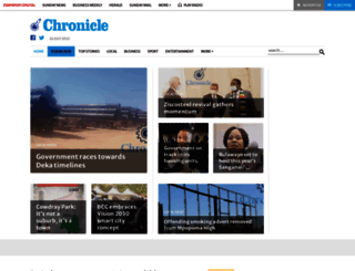 chronicle.co.zw screenshot