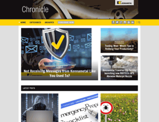 chronicle.kennametal.com screenshot