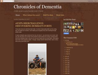 chroniclesofdementia.blogspot.in screenshot