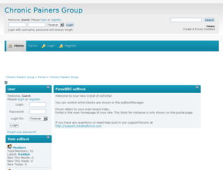 chronicpainersgroup.createaforum.com screenshot