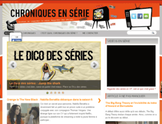 chroniquesenserie.com screenshot