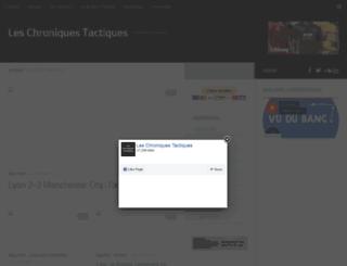 chroniquestactiques.fr screenshot