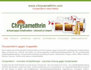 chrysamethrin.com screenshot