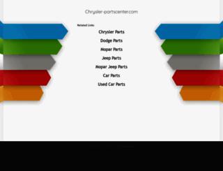 chrysler-partscenter.com screenshot