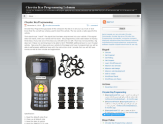 chryslerkeyprogramming.wordpress.com screenshot
