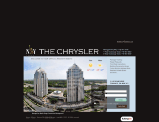chryslerresidents.buildinglink.com screenshot