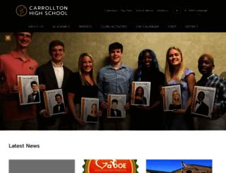 chs.carrolltoncityschools.net screenshot
