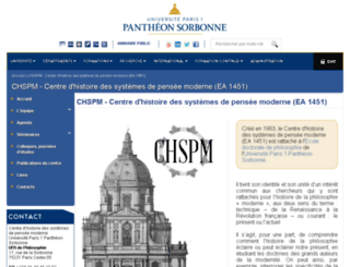 chspm.univ-paris1.fr screenshot