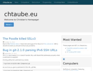 chtaube.eu screenshot