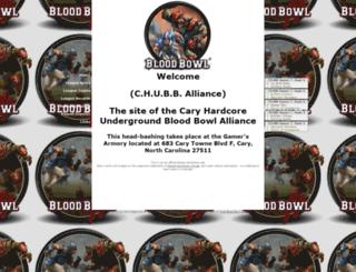 chubballiance.bloodbowlleague.com screenshot