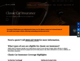 chubbcollectorcar.com screenshot