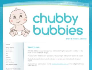 chubbybubbies.com.au screenshot