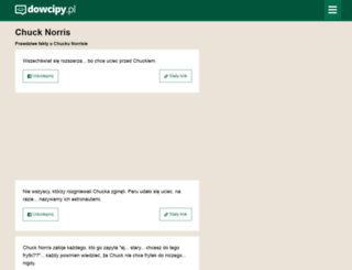 chuck-norris.dowcipy.pl screenshot