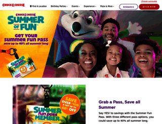 chuckecheese.com screenshot
