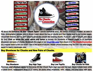 chucksconnection.com screenshot