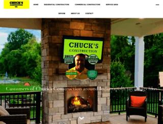 chucksconstruction.com screenshot