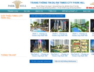 chungcutimescityparkhill.vn screenshot