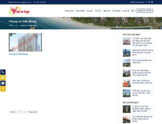 chungcuvienbong.sanhathanh.com screenshot