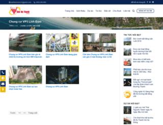 chungcuvp5linhdam.sanhathanh.com screenshot
