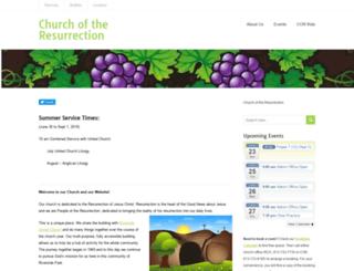 church-resurrection.on.ca screenshot