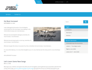 churchatvienna.com screenshot