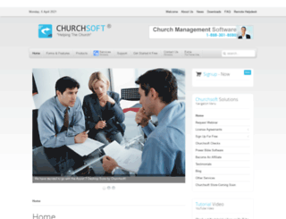churchsoft.com screenshot