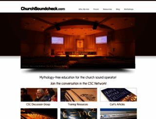 churchsoundcheck.com screenshot