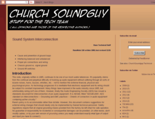 churchsoundguy.com screenshot