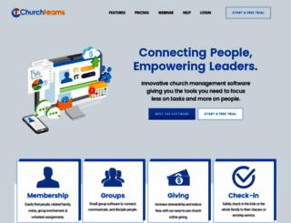 churchteams.com screenshot