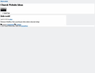 churchwebsiteideas.com screenshot