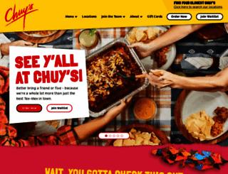 chuys.com screenshot