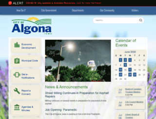 ci.algona.ia.us screenshot