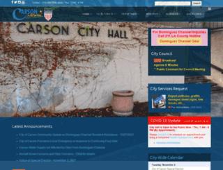 ci.carson.ca.us screenshot