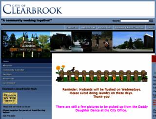 ci.clearbrook.mn.us screenshot