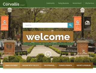 ci.corvallis.or.us screenshot