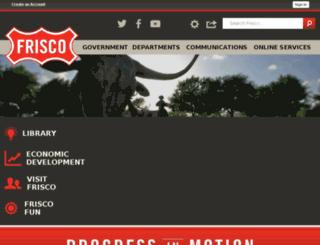 ci.frisco.tx.us screenshot