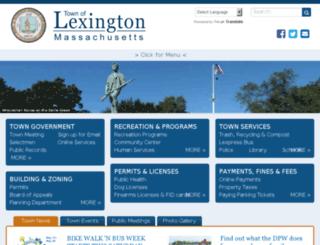 ci.lexington.ma.us screenshot